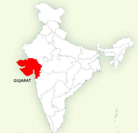 Gujarat Landkaart