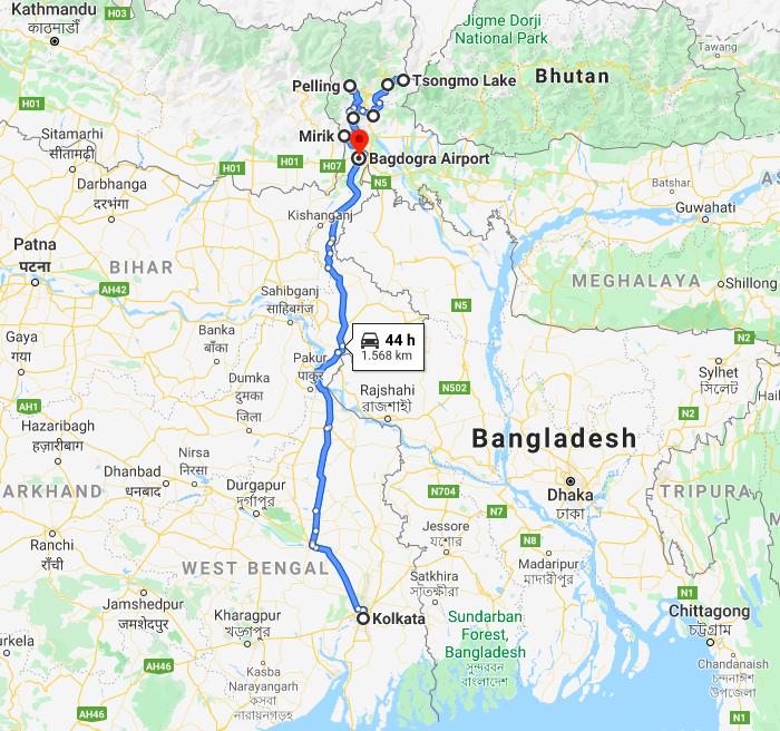 Kolkata en Sikkim