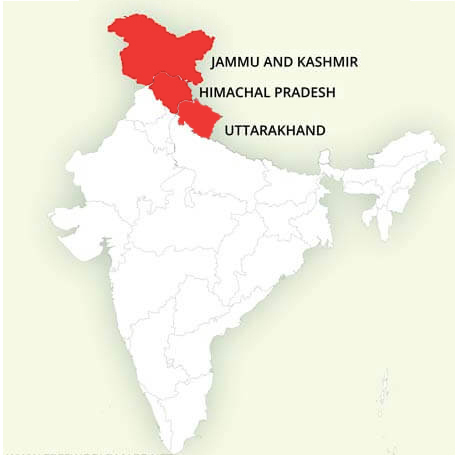 Himalayas Landkaart