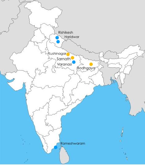 Hindoeïsme Landkaart